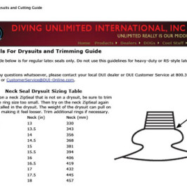 Latex Seals for Drysuits