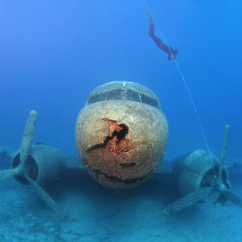 WWII Transport Plane Playground For Divers